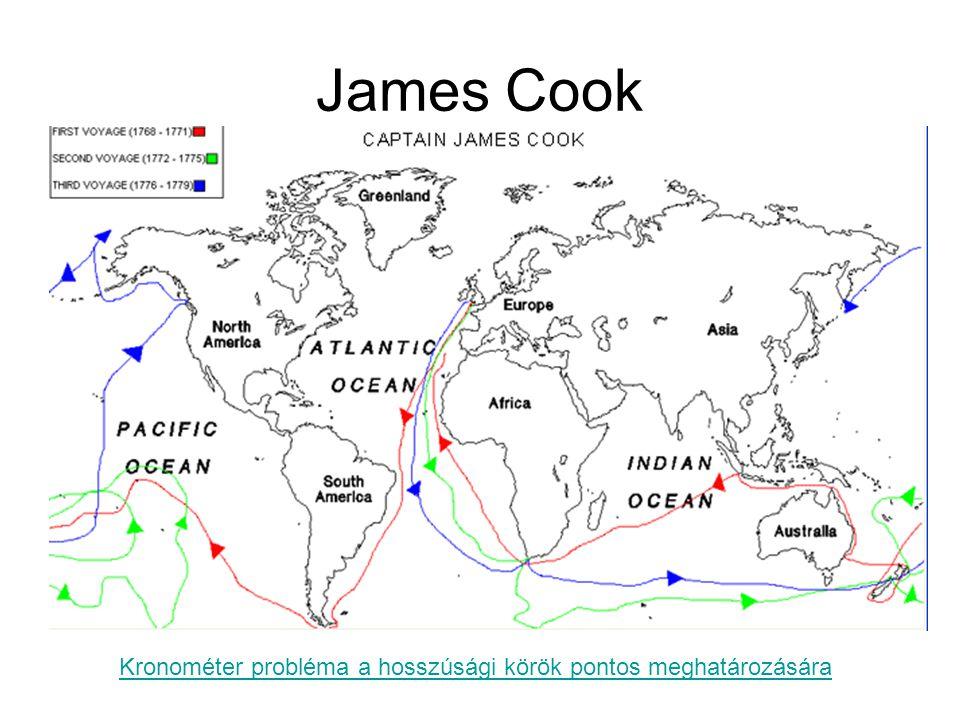 James Cook Kronométer probléma a hosszúsági körök pontos meghatározására