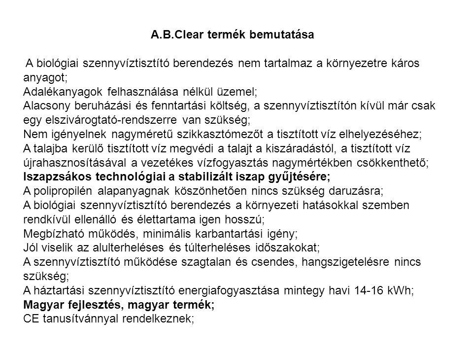 A.B.Clear termék bemutatása