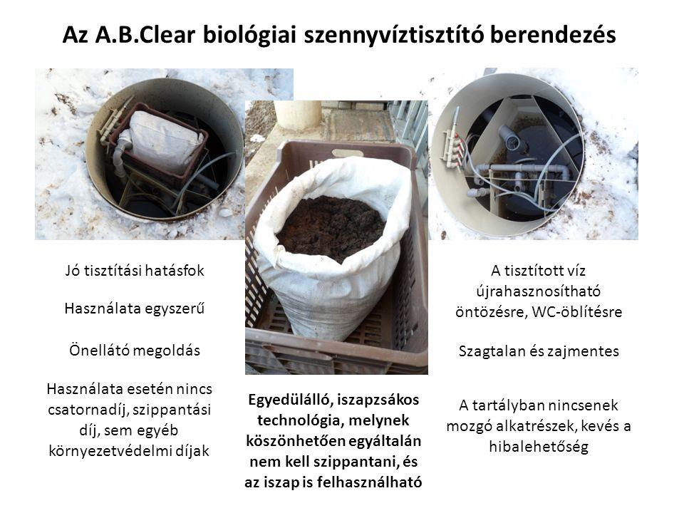 Az A.B.Clear biológiai szennyvíztisztító berendezés