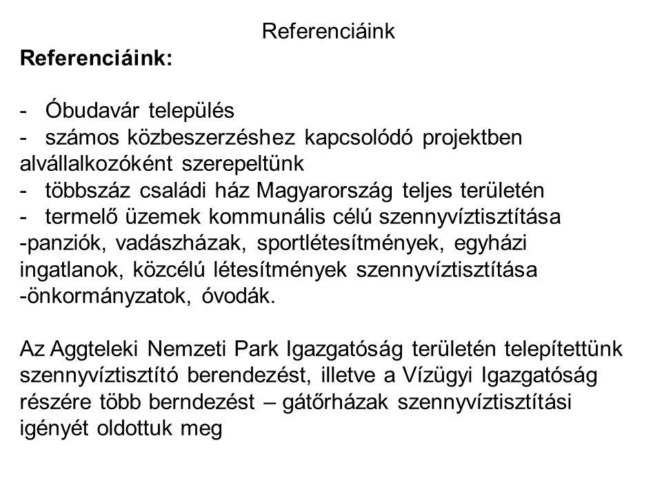 Referenciáink Referenciáink: - Óbudavár település. - számos közbeszerzéshez kapcsolódó projektben alvállalkozóként szerepeltünk.