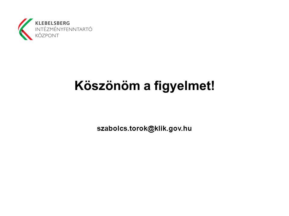 Köszönöm a figyelmet! szabolcs.torok@klik.gov.hu