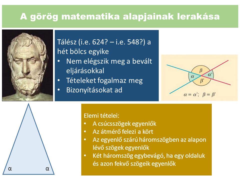 A görög matematika alapjainak lerakása