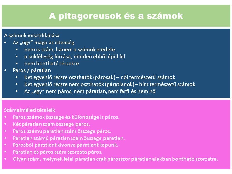 A pitagoreusok és a számok