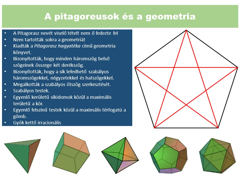A pitagoreusok és a geometria