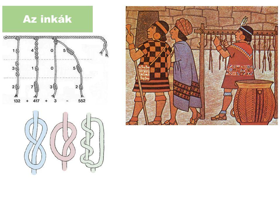 Az inkák Kipunak nevezik a zsinórokból álló köteget 10-es számrendszer
