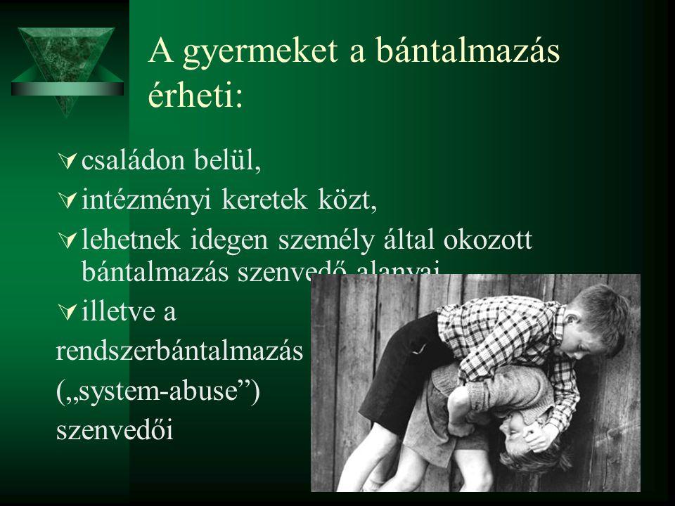 A gyermeket a bántalmazás érheti: