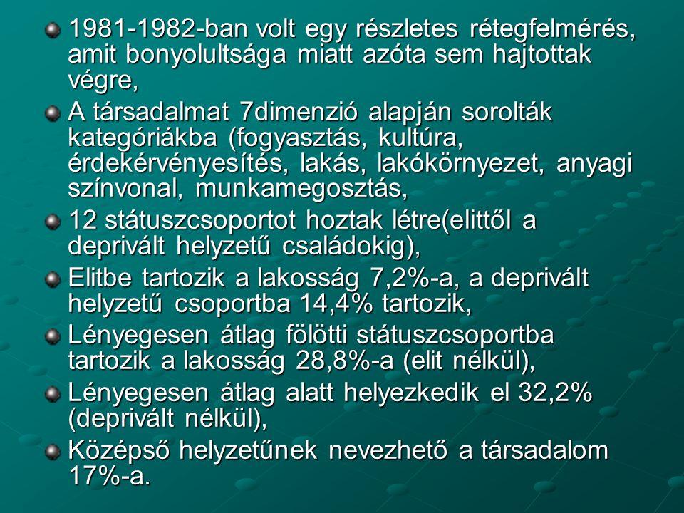 1981-1982-ban volt egy részletes rétegfelmérés, amit bonyolultsága miatt azóta sem hajtottak végre,