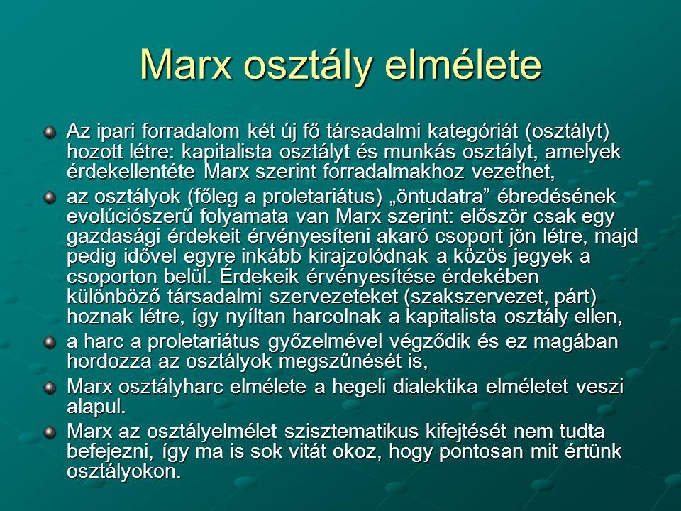 Marx osztály elmélete