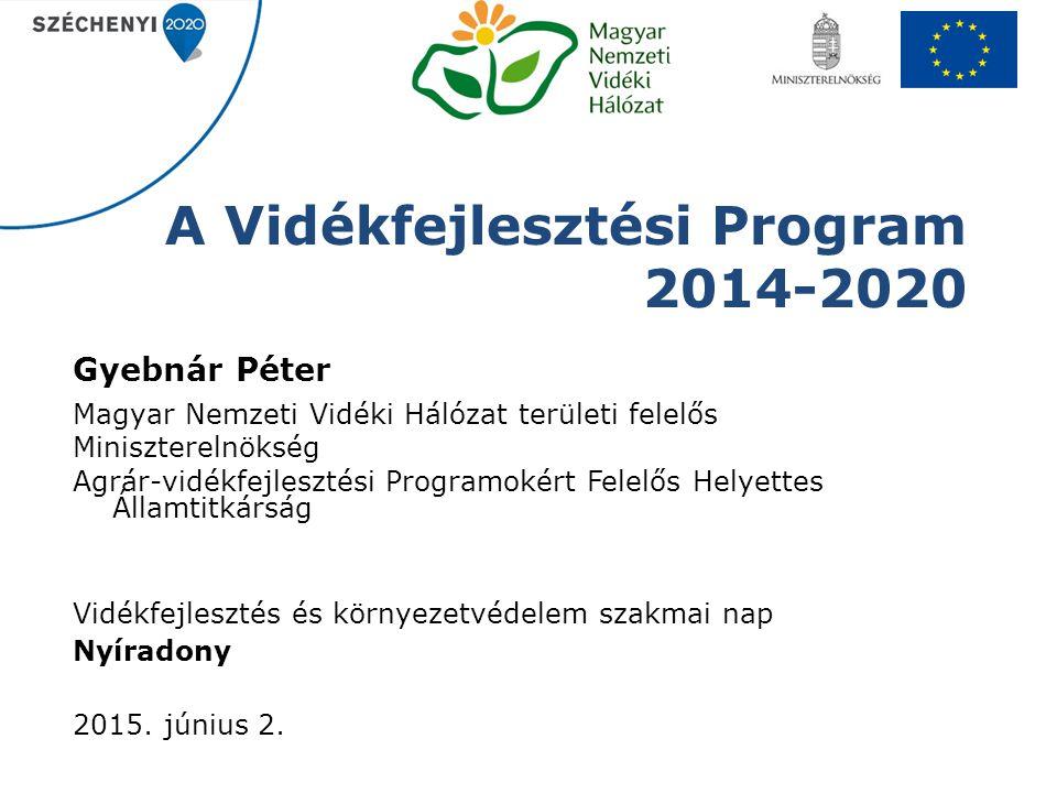 A Vidékfejlesztési Program 2014-2020