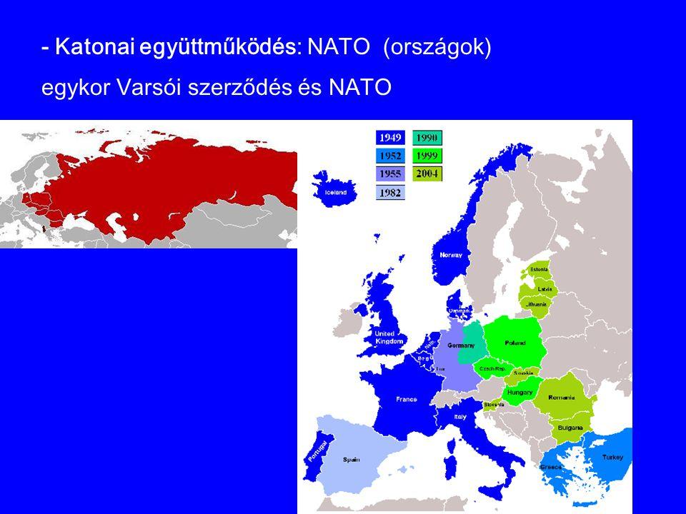 - Katonai együttműködés: NATO (országok)
