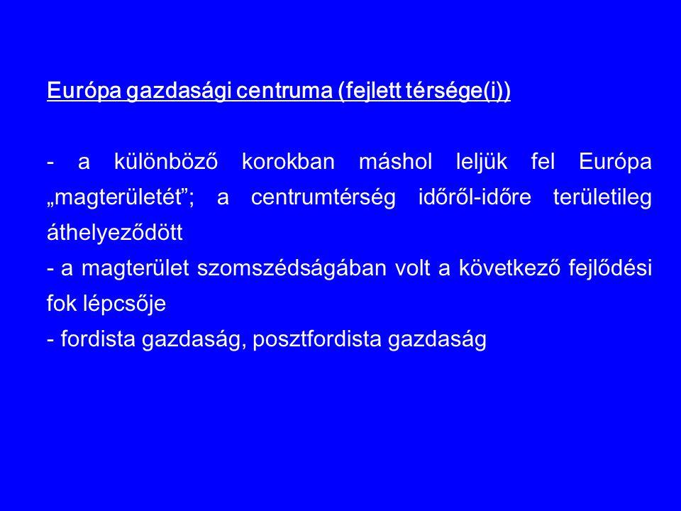 Európa gazdasági centruma (fejlett térsége(i))
