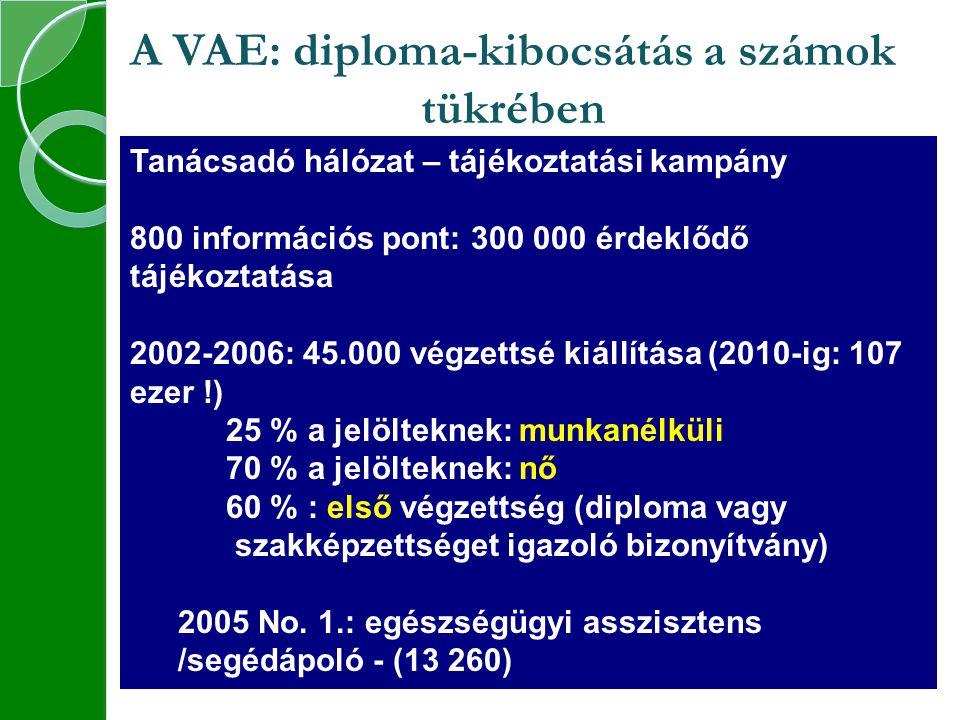 A VAE: diploma-kibocsátás a számok tükrében