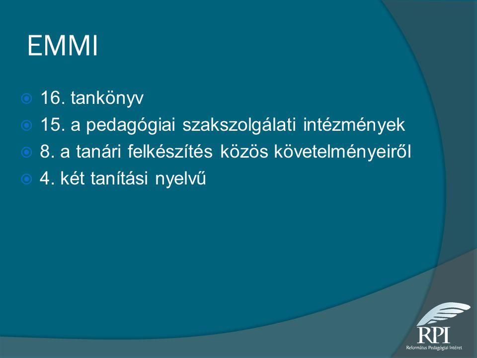 EMMI 16. tankönyv 15. a pedagógiai szakszolgálati intézmények