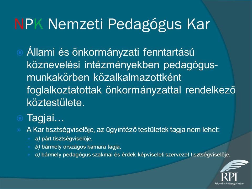 NPK Nemzeti Pedagógus Kar
