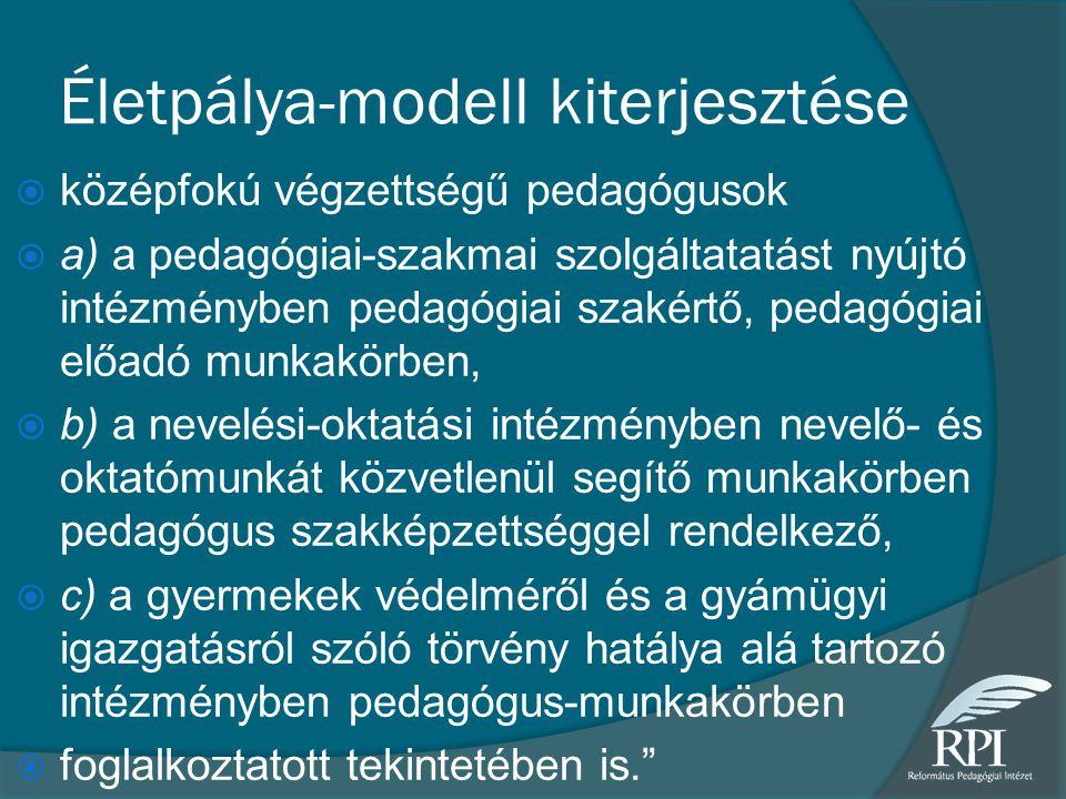 Életpálya-modell kiterjesztése