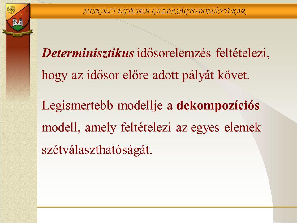 Determinisztikus idősorelemzés feltételezi, hogy az idősor előre adott pályát követ.