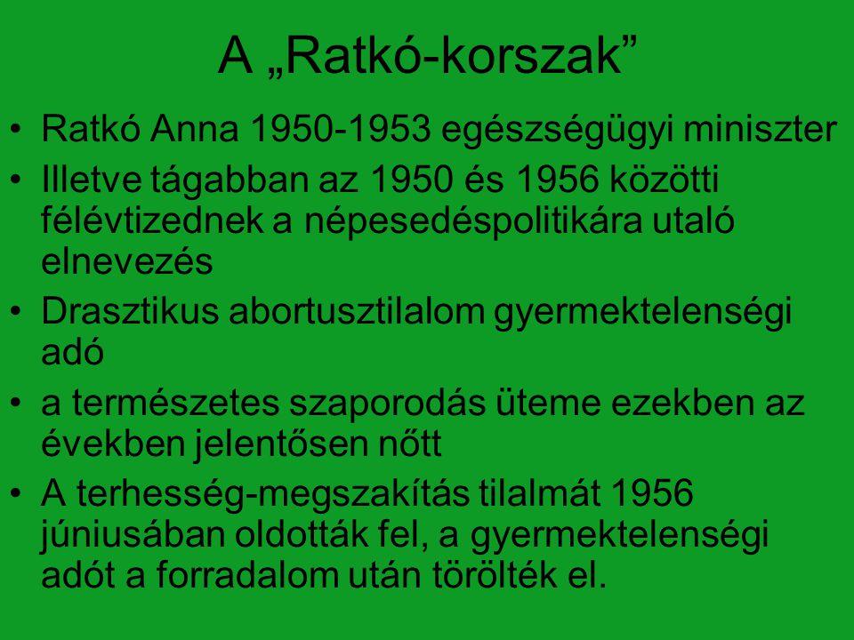 """A """"Ratkó-korszak Ratkó Anna 1950-1953 egészségügyi miniszter"""