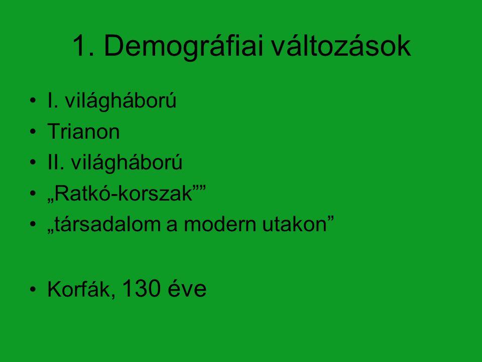 1. Demográfiai változások
