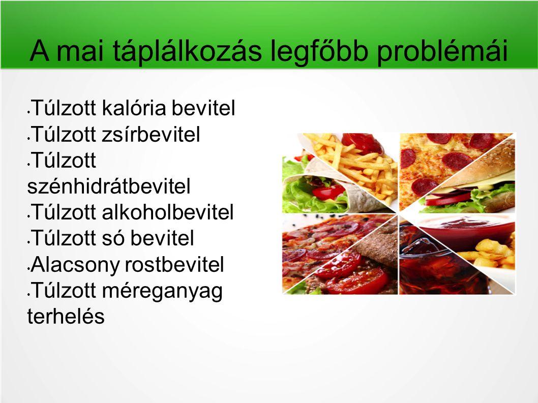 A mai táplálkozás legfőbb problémái