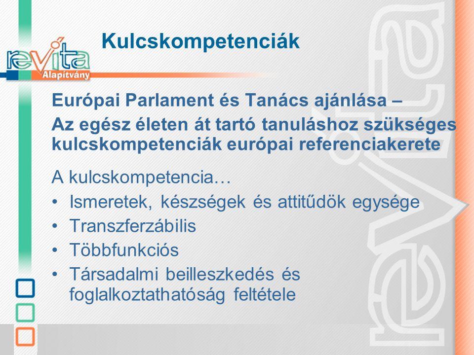 Kulcskompetenciák Európai Parlament és Tanács ajánlása –