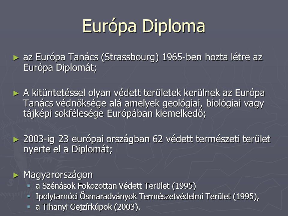 Európa Diploma az Európa Tanács (Strassbourg) 1965-ben hozta létre az Európa Diplomát;