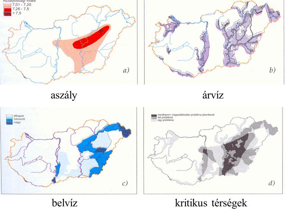 aszály árvíz belvíz kritikus térségek