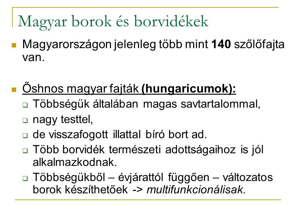 Magyar borok és borvidékek