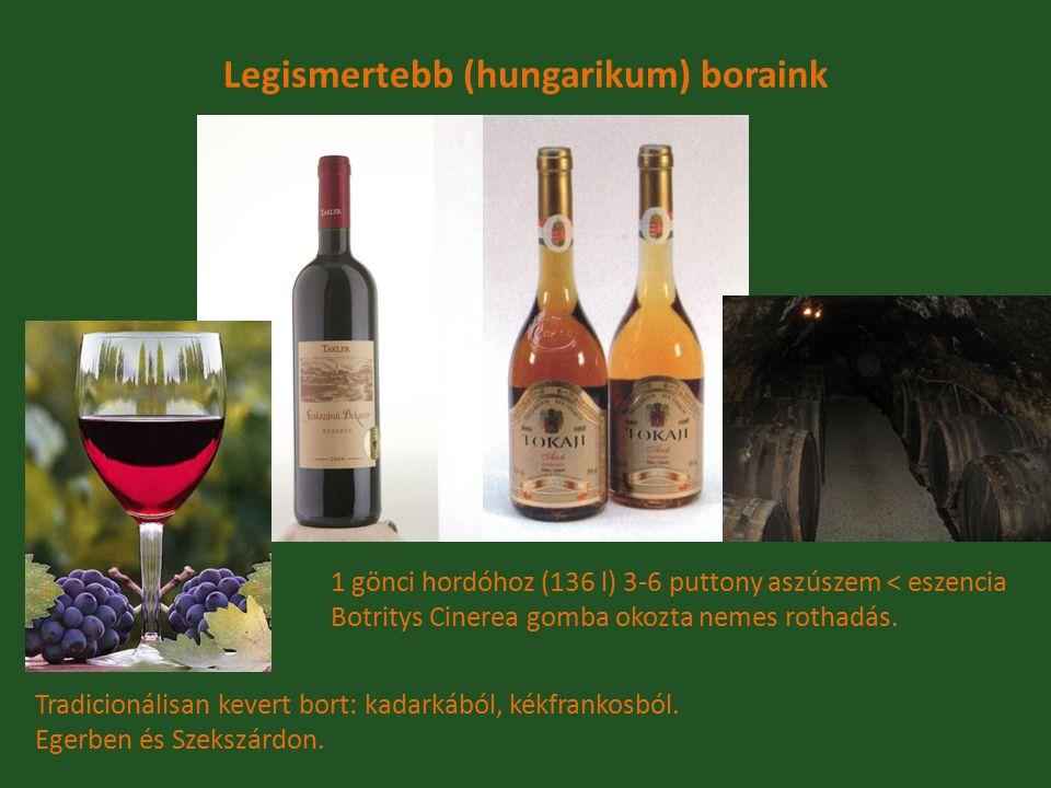 Legismertebb (hungarikum) boraink