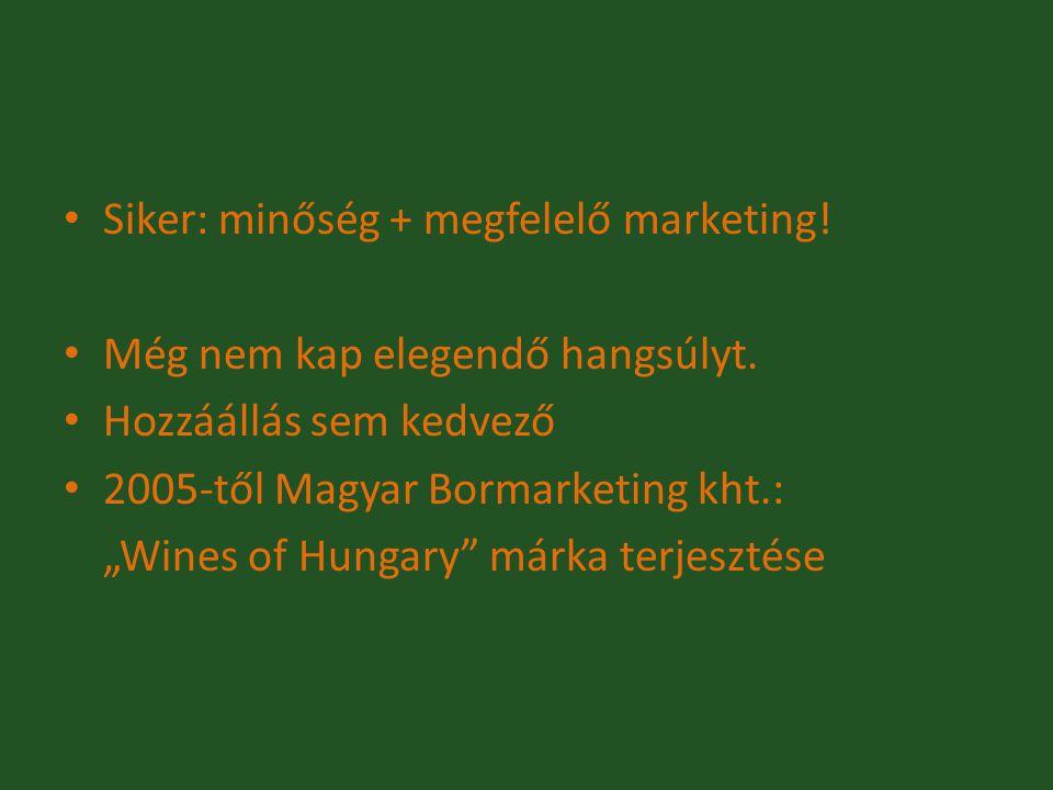 Siker: minőség + megfelelő marketing!