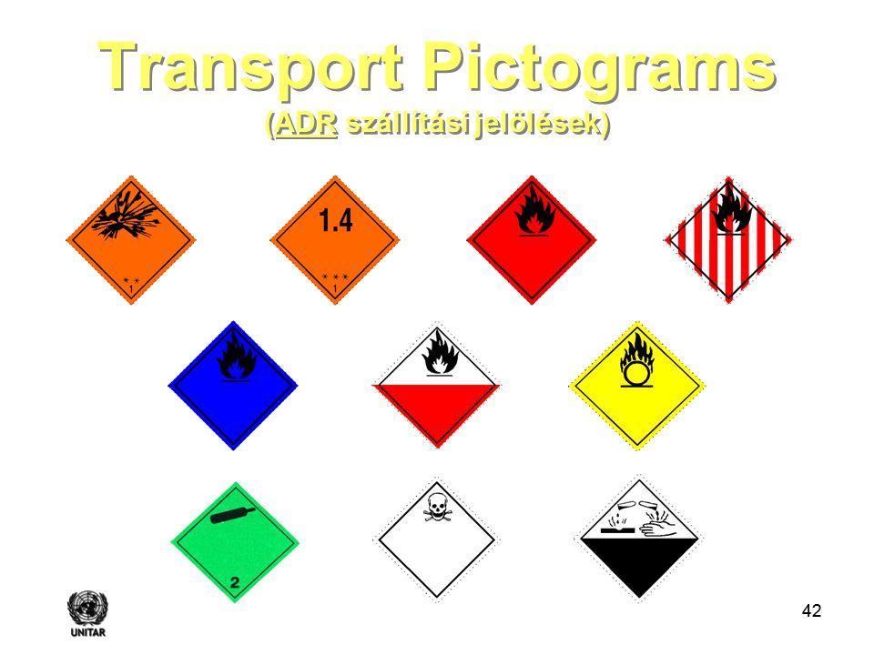 Transport Pictograms (ADR szállítási jelölések)