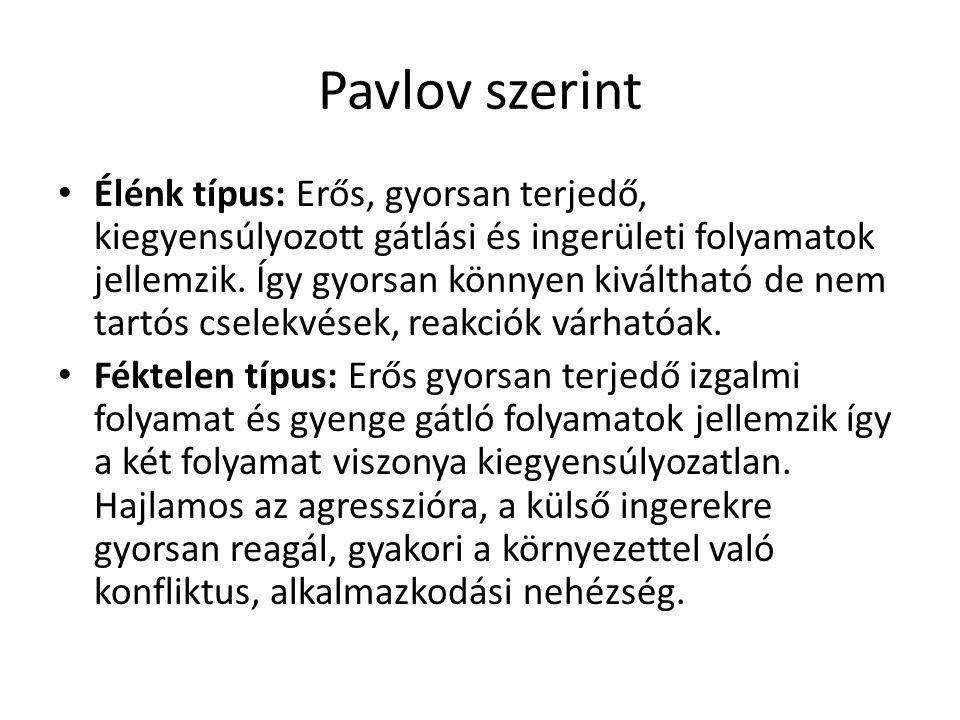 Pavlov szerint