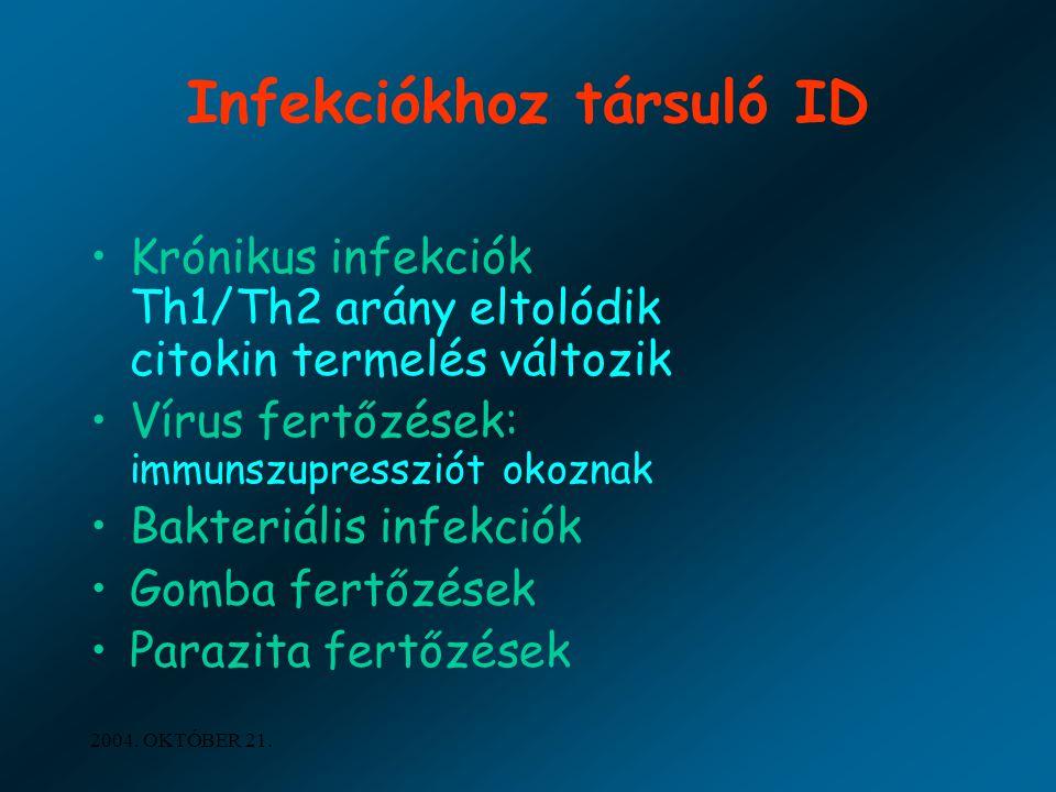 Infekciókhoz társuló ID