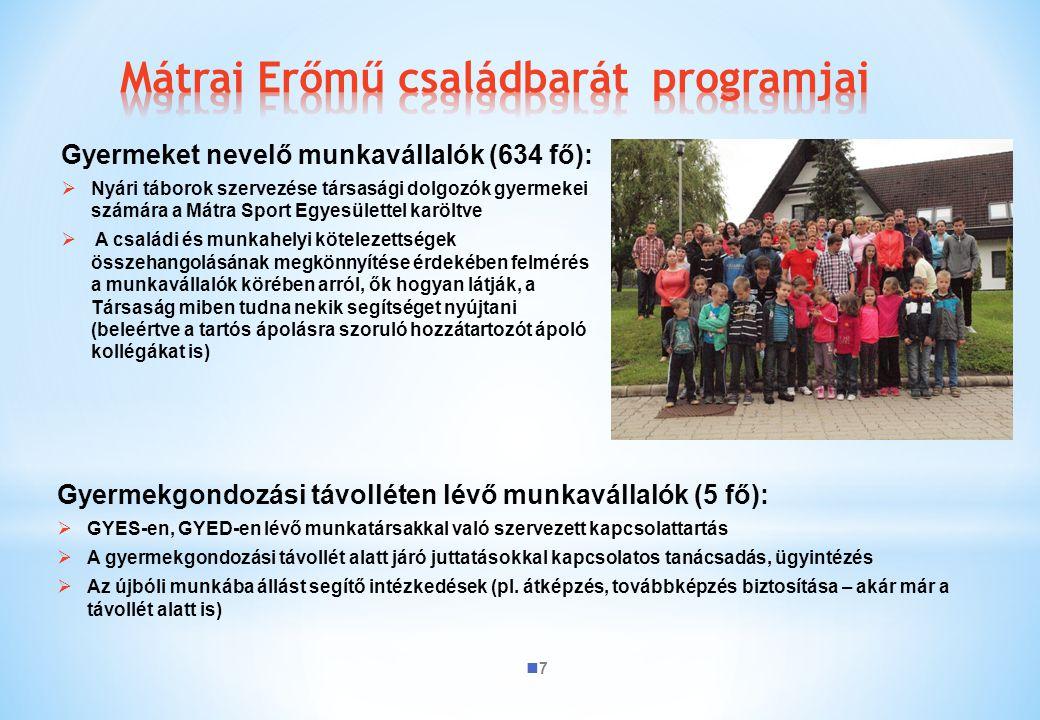 Mátrai Erőmű családbarát programjai