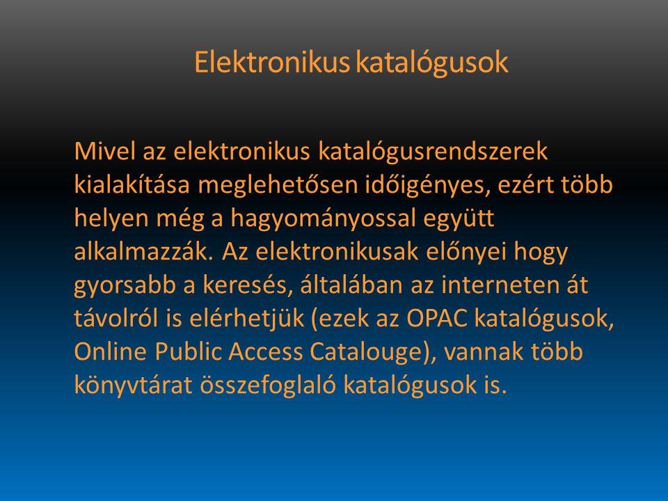 Elektronikus katalógusok