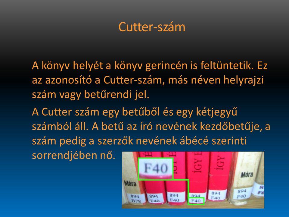 Cutter-szám