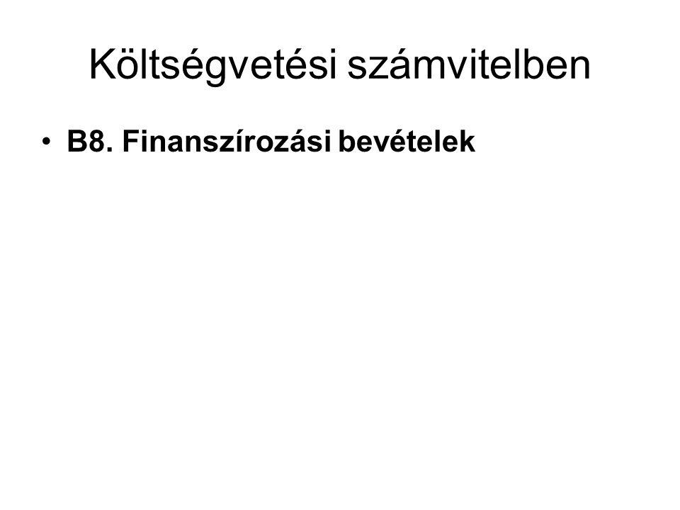 Költségvetési számvitelben
