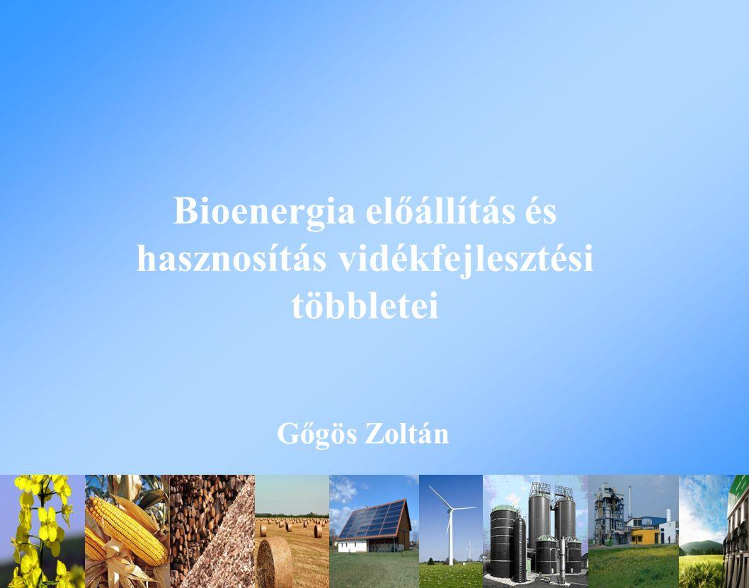Bioenergia előállítás és hasznosítás vidékfejlesztési többletei