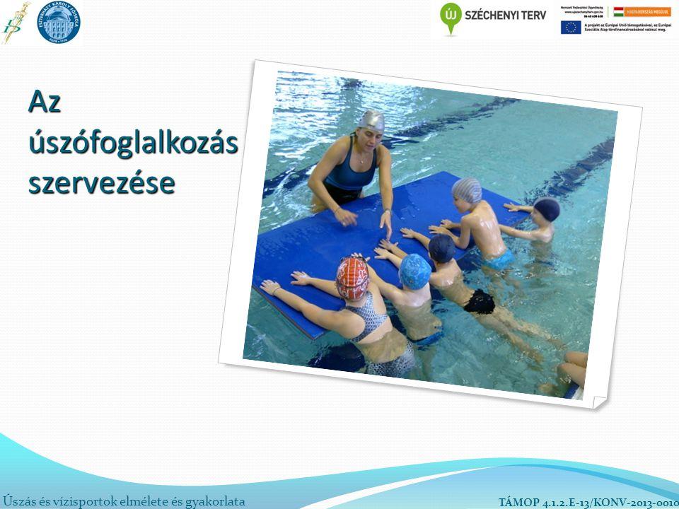 Az úszófoglalkozás szervezése