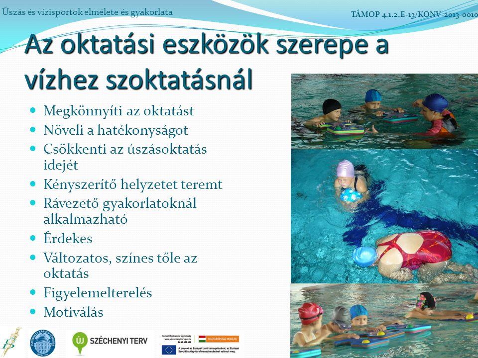Az oktatási eszközök szerepe a vízhez szoktatásnál