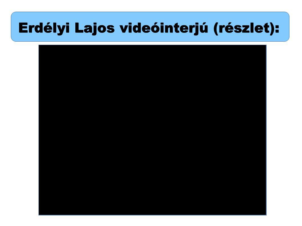 Erdélyi Lajos videóinterjú (részlet):