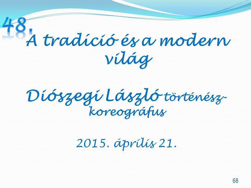 A tradíció és a modern világ