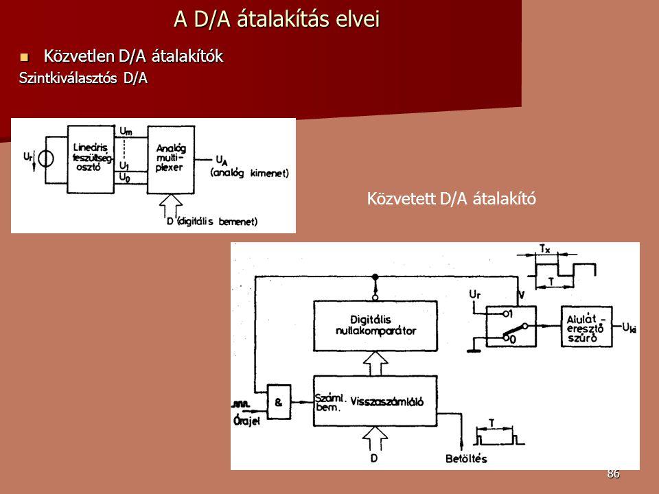 A D/A átalakítás elvei Közvetlen D/A átalakítók