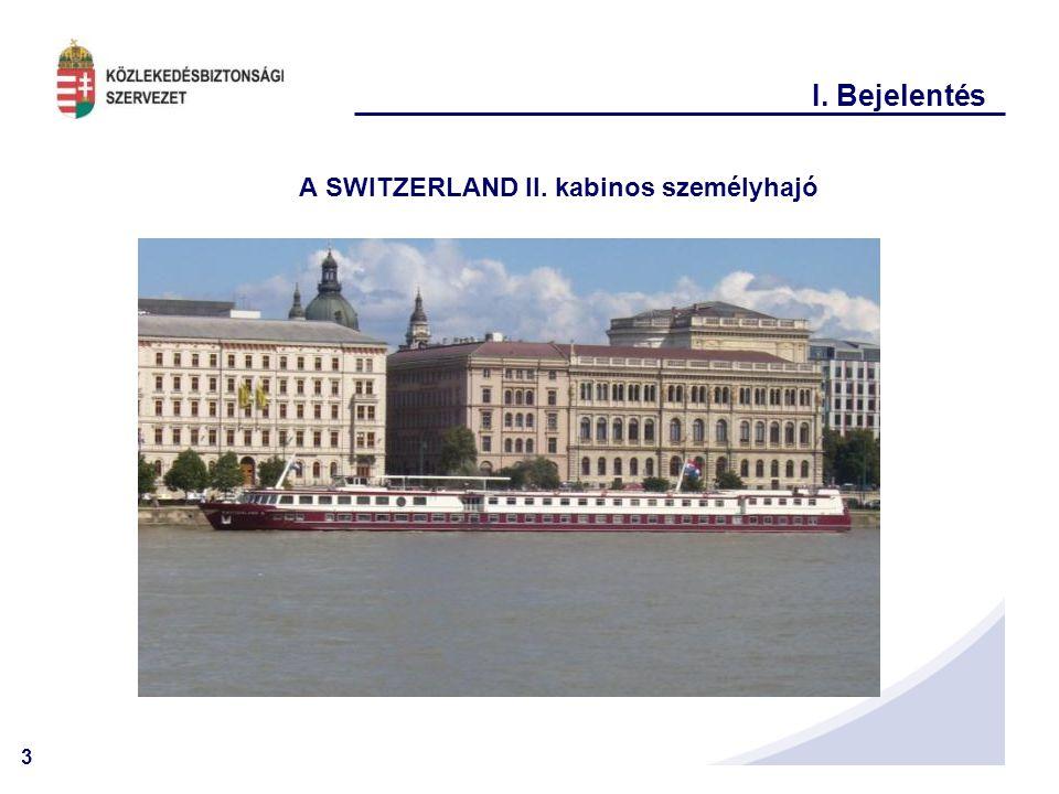 A SWITZERLAND II. kabinos személyhajó