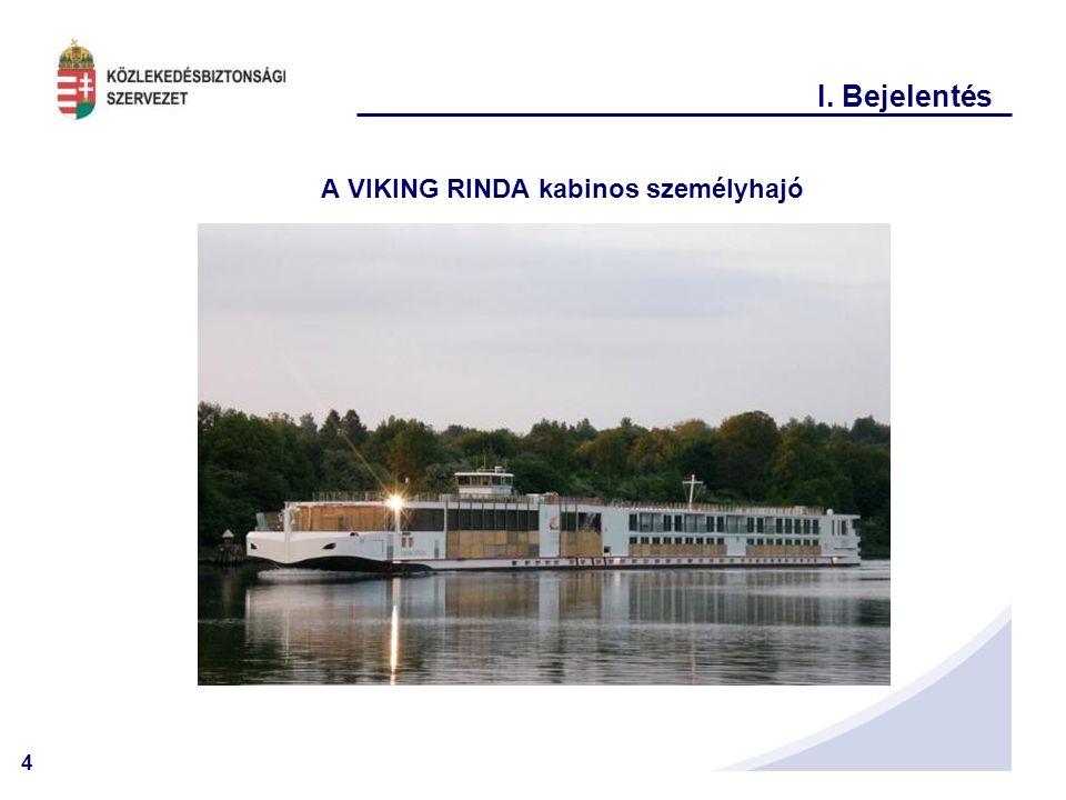 A VIKING RINDA kabinos személyhajó
