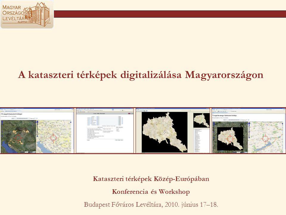 A kataszteri térképek digitalizálása Magyarországon