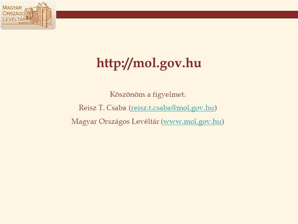 http://mol.gov.hu Köszönöm a figyelmet.