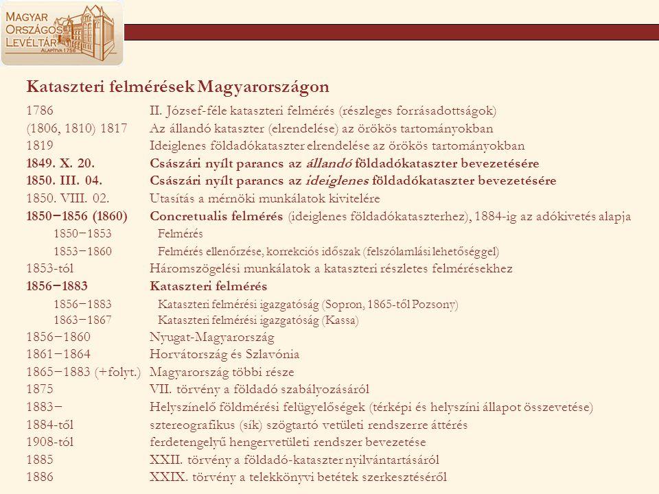 Kataszteri felmérések Magyarországon