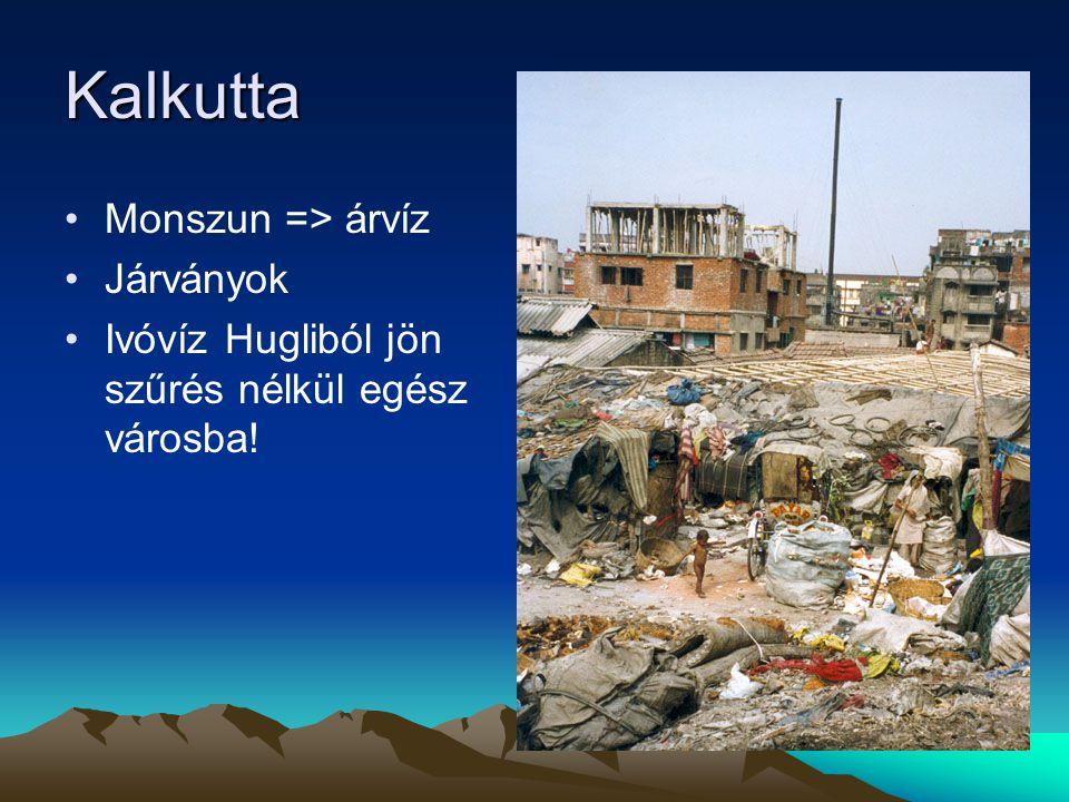 Kalkutta Monszun => árvíz Járványok