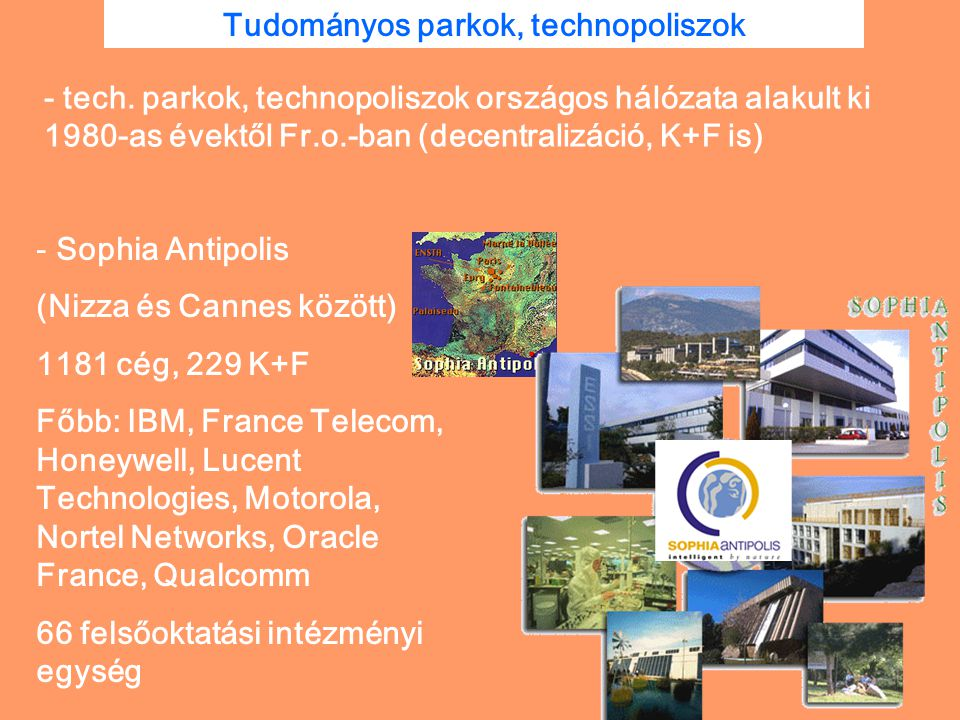 Tudományos parkok, technopoliszok
