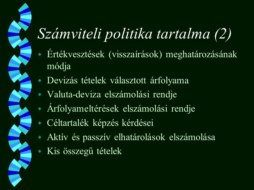 Számviteli politika tartalma (2)